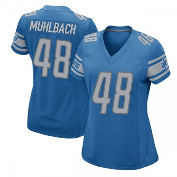 Women's Detroit Lions Don Muhlbach Blue Game Team Color Jersey By Nike