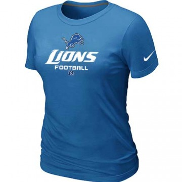 Women's Detroit Lions Light Blue Critical Victory T-Shirt - By Nike