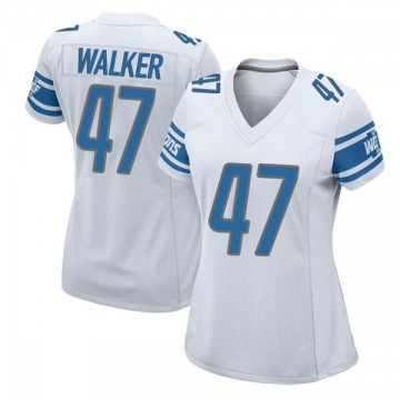 Women's Detroit Lions Tracy Walker White Game Jersey By Nike