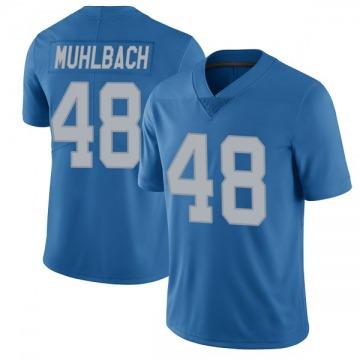 Youth Detroit Lions Don Muhlbach Blue Limited Throwback Vapor Untouchable Jersey By Nike