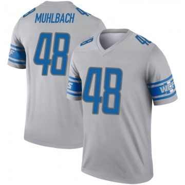 Youth Detroit Lions Don Muhlbach Gray Legend Inverted Jersey By Nike