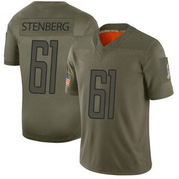 Youth Detroit Lions Logan Stenberg Camo Limited 2019 Salute to Service Jersey By Nike