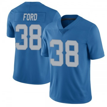 Youth Detroit Lions Mike Ford Blue Limited Throwback Vapor Untouchable Jersey By Nike