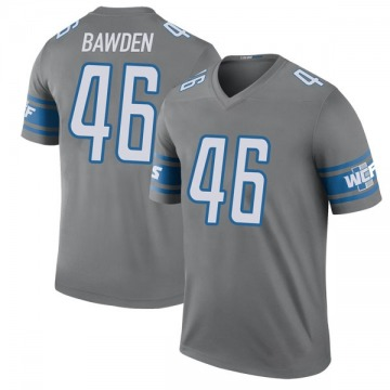 Youth Detroit Lions Nick Bawden Legend Color Rush Steel Jersey By Nike