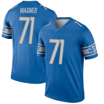 Youth Detroit Lions Rick Wagner Blue Legend Inverted Jersey By Nike